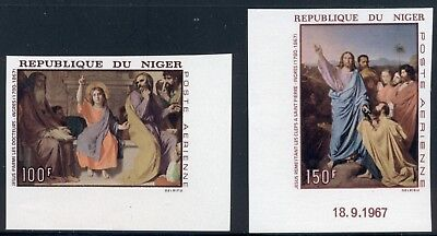 Niger Scott #C76-C77 MNH IMPERF Paintings by Ingres ART $$