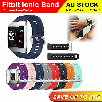 Replacement Silicone Watch Wrist Sports Band Strap For Fitbit Ionic Wristband