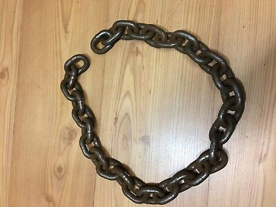 """36"""" Rusty Iron Chain Industrial Steampunk Vintage Repurpose Upcycle Heavy Duty"""