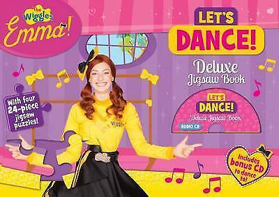 The Wiggles Emma! Let's Dance! Deluxe Jigsaw Book With Audio CD x4 24 Puzzles