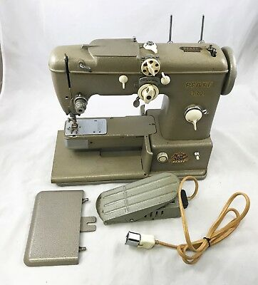 Pfaff 332 Sewing Machine With Foot Pedal; No Power Cord; Untested