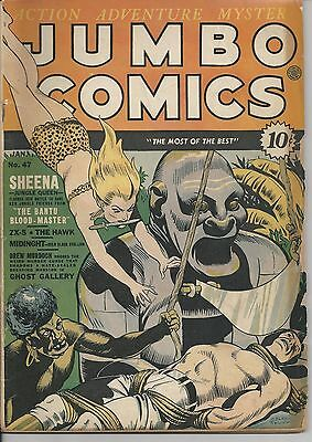JUMBO COMICS #47 VG 4.0 (UNRESTORED) Fiction House Jan 1943