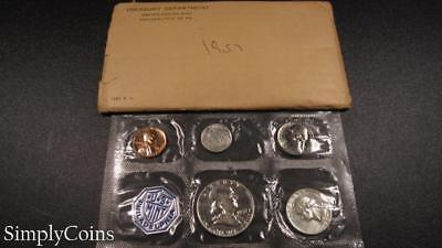 1957 Proof Set ~ Original Envelope ~ US Mint Silver Coin Lot SKU-1049