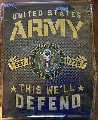 """Brand New, Officially Licenced U.S. Army Aluminum Sign 16"""" X 12.5"""""""