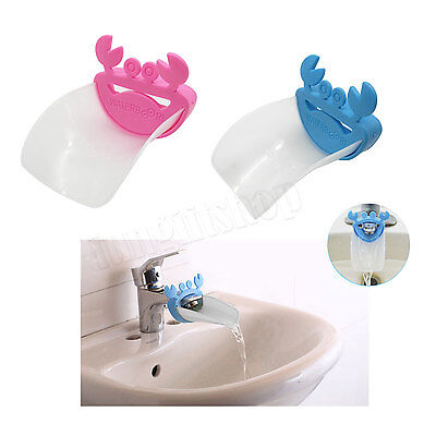 Sink Bathroom Hand Washing Toddler Faucet Extender Kids Training Crab shape LOT