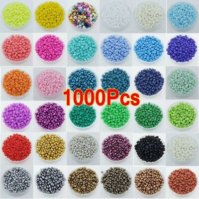 1000Pcs 2mm Round Czech Glass Seed Loose Spacer Beads For Jewelry Making DIY