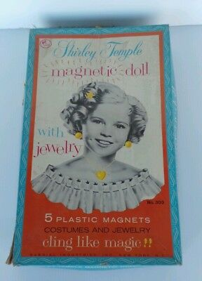 "Vtg 14"" Shirley Temple Paper Doll Set w/ Box Gabrial Industries Magnetic & more"