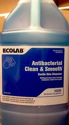 Ecolab # 14886 Antibacterial Clean & Smooth Gentle Hand Soap. 1 Galllon Bottle.
