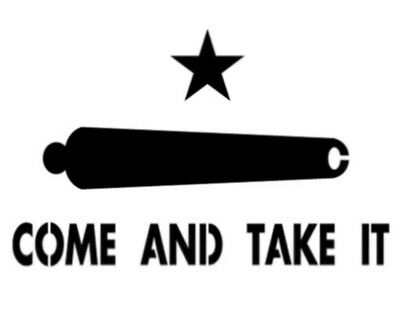 "Texas Come And Take It Cannon Star 11"" x 8.5"" Custom Stencil FAST FREE SHIPPING"