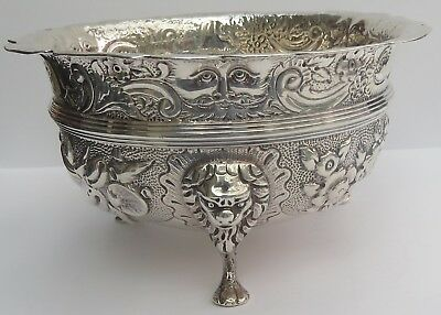SUPERB VICTORIAN ENGLISH (CHESTER) SILVER BOWL by NATHAN & HAYES c.1900