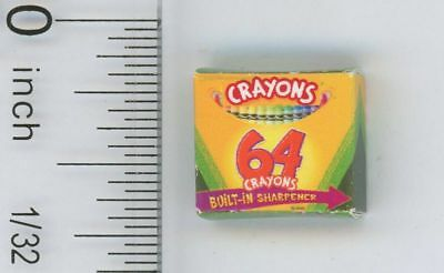 Dollhouse Miniature Box of Crayons  (Box Only)  by Cindi's Mini's