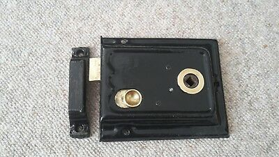 Reclaimed Victorian Edwardian Rim Lock / Door Latch and keep