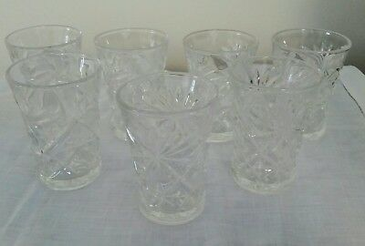7 juice tumblers  Early American Prescut Anchor Oatmeal Pineapple