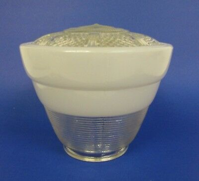 * Vintage * Art Deco * Milk Glass Tapered Beehive Ceiling Light Globe Or Shade *
