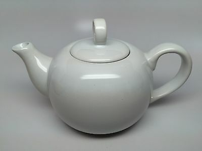 Vintage Westwood Ceramic Teapot - All White - Classic Shape - Very Nice!