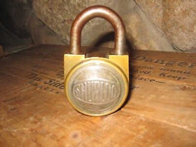 Vintage BRASS and IRON SHURLOCK PADLOCK