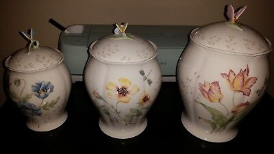 Lenox 3 Pc Butterfly Meadow Canister Collection