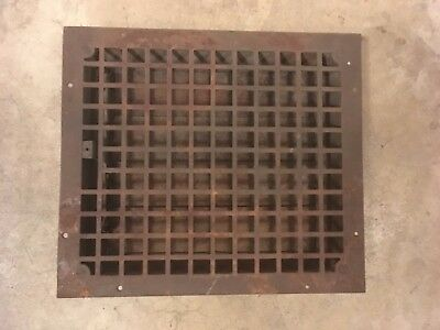 Vintage Cast Iron Stamped Steel Floor Heat Grate Register Vent