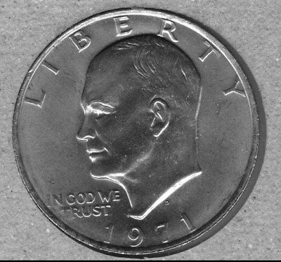 1971-D  Uncirculated  Eisenhower (Ike) Dollar (Some Spots And/or Toning)