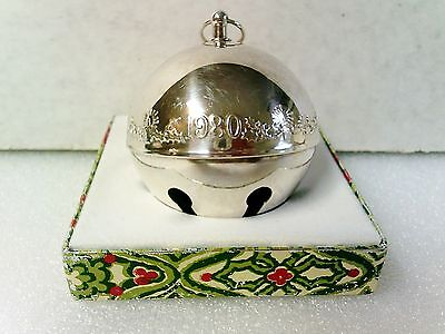 Wallace ornament Christmas sleigh bell 1980