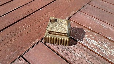 Vintage Heavy Fort Snelling Brass Over Cast Iron Paperweight