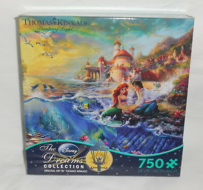 :: Disney THE LITTLE MERMAID Puzzle Thomas Kinkade Dream Collection 750 pcs ::