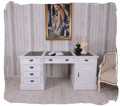 partnerdesk massivholz schreibtisch weiss mahagoni 180cm b rotisch computertisch eur 799 99. Black Bedroom Furniture Sets. Home Design Ideas