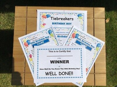 Fun Quiz How Well Do You Know 90th Birthday Girl 20 A5 Sheets Tiebreakers