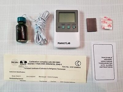 Traceable Refrigerator/Freezer Alarm Thermometer w/ 5mL Vaccine - New in Box!