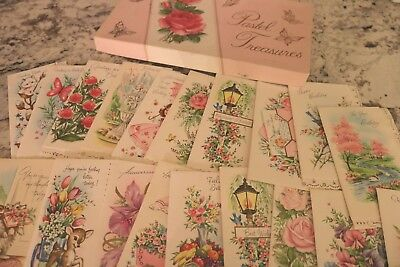 Vintage  Card Lot of Unused Set Greeting 1950's With Box & Envelopes
