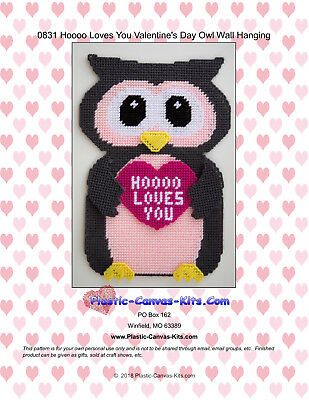 Valentine S Day Owl Wall Hanging Hooo Loves You Plastic Canvas