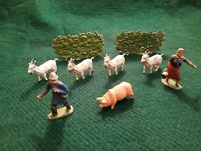 Timpo Lead Miniature Farm Group, Manufactured 1950, Similar To Britain's, Good