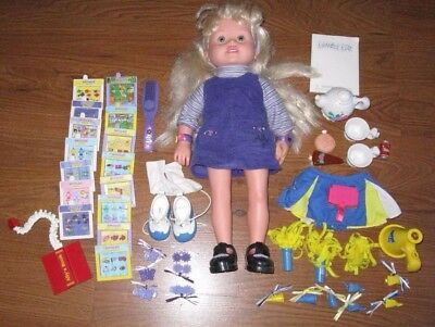 "Amazing Ally 18"" Doll Interactive Playschool, Cheerleader Pack, Many Accessories"