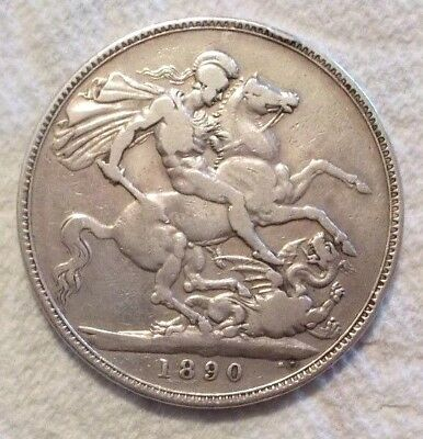 1890 Great Britain Crown KM# 765 .925 Silver Coin