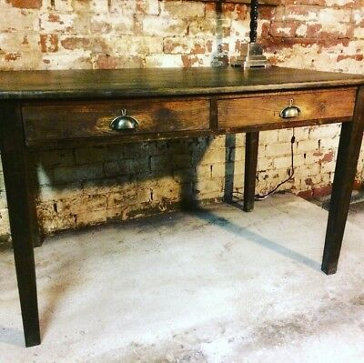 Antique Desk Industrial Office Vintage