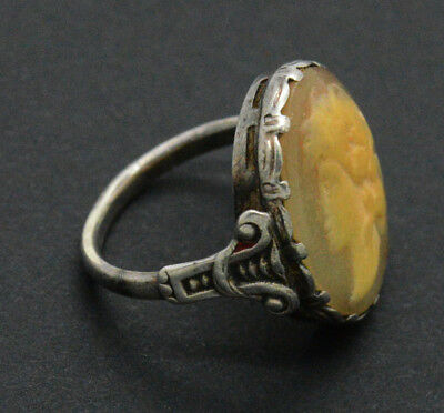 Medieval Silver Ring with gemstone. 18 Century 3gr