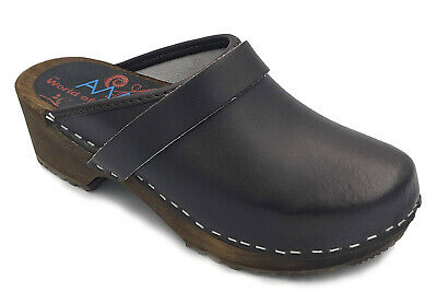 AM-Toffeln 100 Clogs in Brown - Wooden Footbed