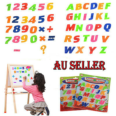 52pcs Teaching Magnetic Letters Numbers Fridge Magnets Alphabet AU STOCK