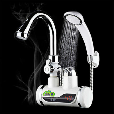 Kitchen Digital Electric Faucet Tap Hot/Cold Water Heater Fast Instant Bathroom