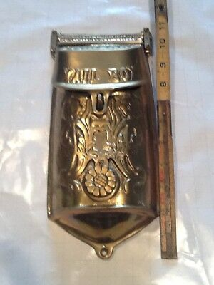 Ornate Vintage Victorian Brass Standard Mailbox - Peephole - Wall Mount - Great