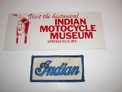 Vintage Historical Indian Motorcycle Museum Springfield Museum Decal Patch