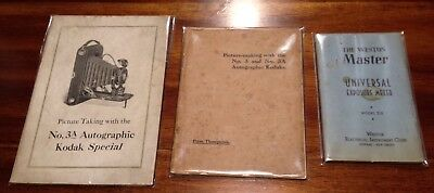 1888, 1900's, 1939 Vintage Kodak And Camera Related Booklets