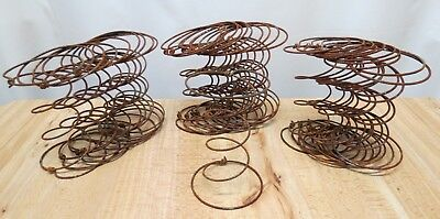 Lot of 30 Rusty Hour Glass Bed Springs Primitive Arts Crafts Nodders Steampunk