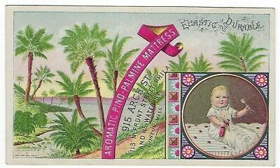 Aromatic Pino-Palmine Mattress late 1800's medicine CURE trade card