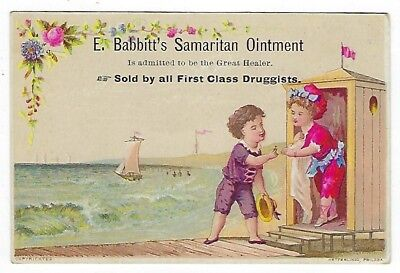 Babbitt's Samaritan Ointment late 1800's medicine trade card #B - Westport, MA