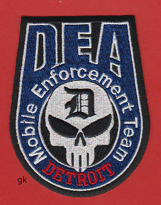 Dea Detroit Drug Enforcement Team Police Skull Patch