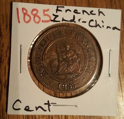 French Indo-China 1885 1 Cent Coin