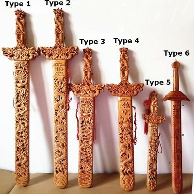 Peach Wood Sword Lucy Decoration Blessing Gift Dragon Exorcise Evil Lucy Amulet