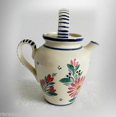 Henriot Quimper vintage teapot with handle - FREE SHIPPING