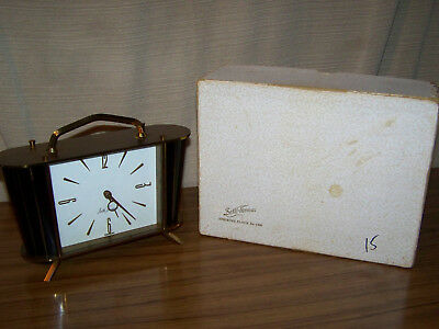 Vintage Art Deco Seth Thomas Brass Clock Made In Germany In Original Box # 1206